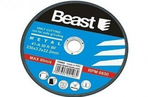 BEAST TARCZA TNĄCA DO METALU 230 x 3.2 x 22.2 mm