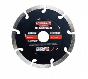POWER-ALT Tarcza diamentowa segment do betonu 125mm