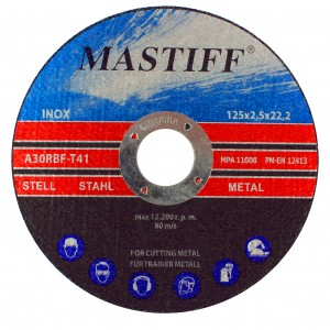 MASTIFF  Tarcza do metalu stali inox 125/2.5mm