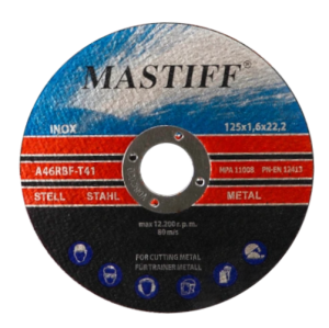 MASTIFF Tarcza tnąca do metalu stali inox 125x1,6mm