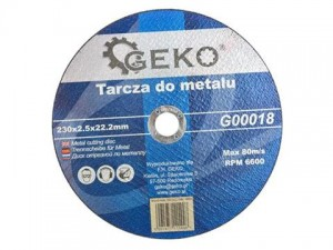 GEKO Tarcza do metalu 230x2,5x22,2mm