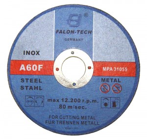 FALON-TECH Tarcza do metalu, stali inox 125/3.0mm