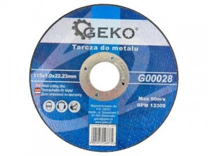 GEKO Tarcza do metalu 115x1mm INOX